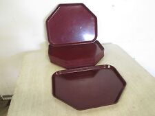 """Lot Of (12) """"Cambro-Camtrays 4; H.D. Commercial Docking Cafeteria Serving Trays"""