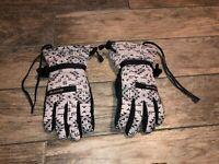Dakine Capri Ski Snow Gloves Gray And Black Womens Size Large 7.5