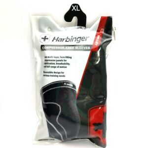 Harbinger 1 Pair Performance Compression Lifting Knee Sleeves XL Reversible 16+