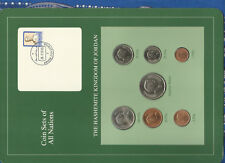 Coin Sets of All Nations Jordan 1978-1989 UNC 1/4 Dinar 1981 1 Fil 1978