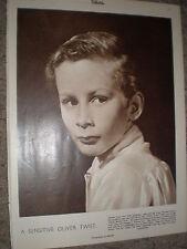 Photo article Oliver Twist actor John Howard Davies 1948 rf K
