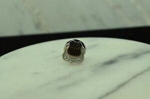 10K WHITE GOLD UNION PACIFIC DIAMOND RETIREMENT AWARD LAPEL PIN #X10-1935
