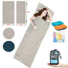 Schlafsäcke aus 100% Baumwolle Hüttenschlafsack Inlett Inlay Reise 210CM DHL