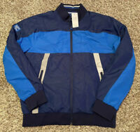 NEW Superdry Sports Athletic Men's Full Zip Jacket Blue Size X-Large XL NWT