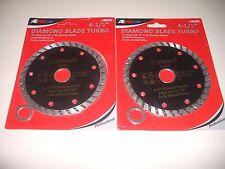 "2 ATE Pro 4-1/2"" Wet/Dry Turbo Diamond Grinder Blade 40262 Concrete"