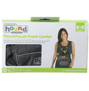 Outward Hound Pooch Pouch Carriers Lightweight Dog Pack and Front Carriers Gray