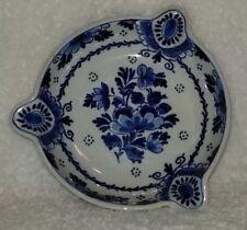 Vintage Delft Blue White Hand Painted Dutch Ashtray Holland Floral