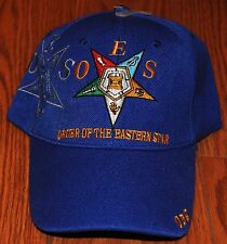 BLUE WHITE RED ORDER OF THE EASTERN STAR OES CAP HAT MASON FREEMASONRY