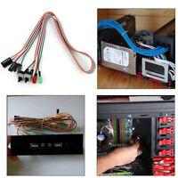 20X(PC Gehaeuse Rot Gruen LED-Lampe ATX Stromversorgung D-Schalter LeitungsV3E7)