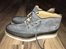 Cole Haan Grand OS Lunargrand Men Stone Blue Suede Ankle Boots Size 8