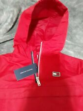 Tommy Hilfiger Color/Scarlet Red Windbreaker with hoodie & front pocket Size/5t