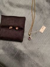purple necklace and earring sets