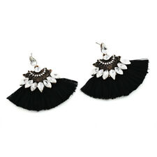 Fashion Crystal Rhinestone Tassel Drop Dangle Ear Stud Earrings Women Jewelry