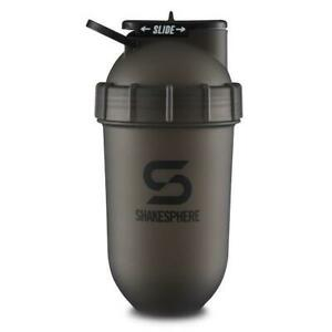 SHAKESPHERE TUMBLER SHAKER BOTTLE 700ML FROSTED BLACK GYM PROTEIN LEAKPROOF