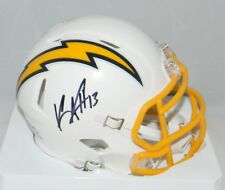 KEENAN ALLEN AUTOGRAPHED SIGNED LOS ANGELES CHARGERS COLOR RUSH MINI HELMET JSA