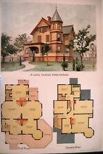 """1890 Ergänzung zu Den """" Scientific American Architects W / Lang Island Mansion"""