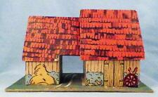 Vintage Pineville Barn Christmas House Putz Train Display Montgomery Ward