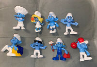 Vintage Mcdonald's Happy Meal Toys The Smurfs Lot of 8