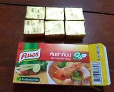 72 g tom yum Broth Cubes,knorr Thai herb sour koong shrimp soup instant cooking