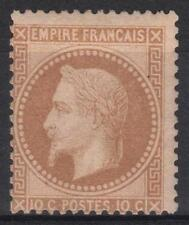 "FRANCE STAMP TIMBRE 28 A "" NAPOLEON III 10c BISTRE TYPE I "" NEUF xx TB  M162"