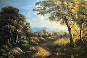 Landscape, Original Oil Painting, 61 X 91cm