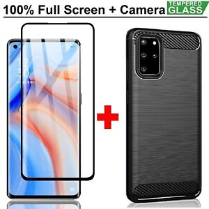 OPPO A54 5G Armor Case Cover + Tempered Glass Screen Protector For OPPO A54 5G