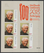 IMPERF Siamese Joint Issue 2018 PAN African Postal Union Nelson Mandela 100 year