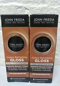 2 ~ John Frieda Precision Colour Refreshing Gloss For Warm Brunettes 6 Oz