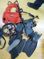 SeaQuest Vest, Super Stag Fins, Regulator and other items to Scuba Dive As Is