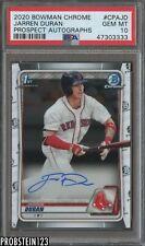 2020 Bowman Chrome Jarren Duran RC Rookie AUTO Boston Red Sox PSA 10