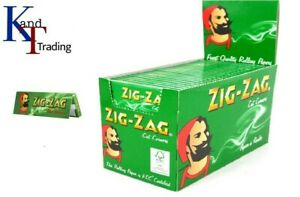 1200x ZIG ZAG GREEN Rizla Cut Corners ROLLING Papers Tobacco Cigarette Filter UK