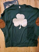 Leo Rosi Shamrock Green Long Sleeve Women's Sweatshirt Top Size Medium NWOT