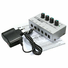 Ha400 Ultra-compact 4 Channel Headphone Audio Stereo Amp Microamp Amplifier