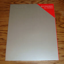 Original 1985 Volvo Full Line Accessories Sales Brochure 85 240 740 760 DL GL
