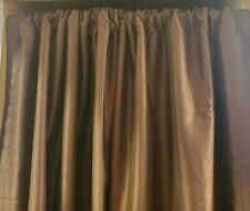 """2 Window Treatment Curtain Panels Drapes Classic Home Brown 84""""x54"""""""