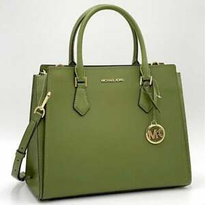 Michael Kors Hope Saffiano Leather Large Satchel Messenger Bag