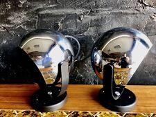 Vintage Chrome Eyeball Lamp Space Age George Nelson Mid-Century Atomic Eames