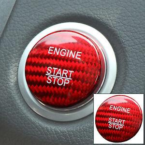 Car Engine Start Stop Button Switch Cover Carbon Fiber Sticker For Mercedes-Benz