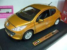 1/24 Burago Peugeot 207 goldmetallic