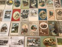 Big Lot of 60 Vintage Postcards with Cottage & Various Scenes Scenic-p993