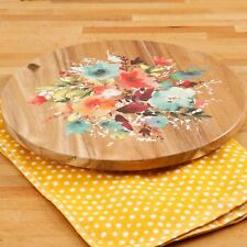 NEW 2017 The Pioneer Woman Willow 12-Inch Lazy Susan Acacia Wood Ree Drummond