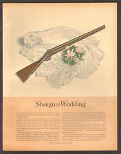 S.C. Johnson's Wax OCT 1941 SHOTGUN WEDDING Original Print Ad Q28