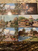 Vintage Magic Kingdom Disneyland Walt Disney World Upjohn Postcard LOT Of 6