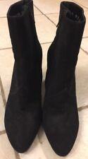Robert Clergerie Boots Women's Black Suede Leather Boots Sz 8.5 Zipper Side