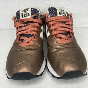 New Balance 574 Women's Copper Brown Sneakers Athletic Shoes US Size 9