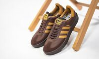 Adidas Madrid City Series Mens Brown Auburn Shoe Trainer Sneaker Sport