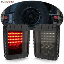 For 07-17 Jeep Wrangler JK LED Tail Lights Brake Reverse Rear Turn Signal Lamp