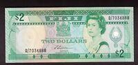 FIJI (1988) $2 QUEEN ELIZABETH II S.SIWATIBAU SUGAR CANE HARVEST UNC P.87a