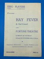 Hay Fever Esso Players Fortune Theatre Drury Lane November 1955