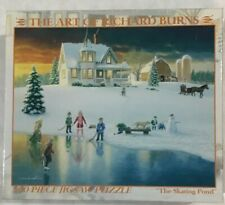 """The Art of Richard Burns - """"The Skating Pond"""" - 300 piece Jigsaw Puzzle - New"""